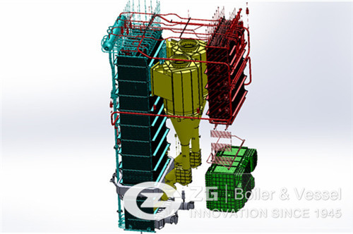 Biomass circulating fluidized bed boiler